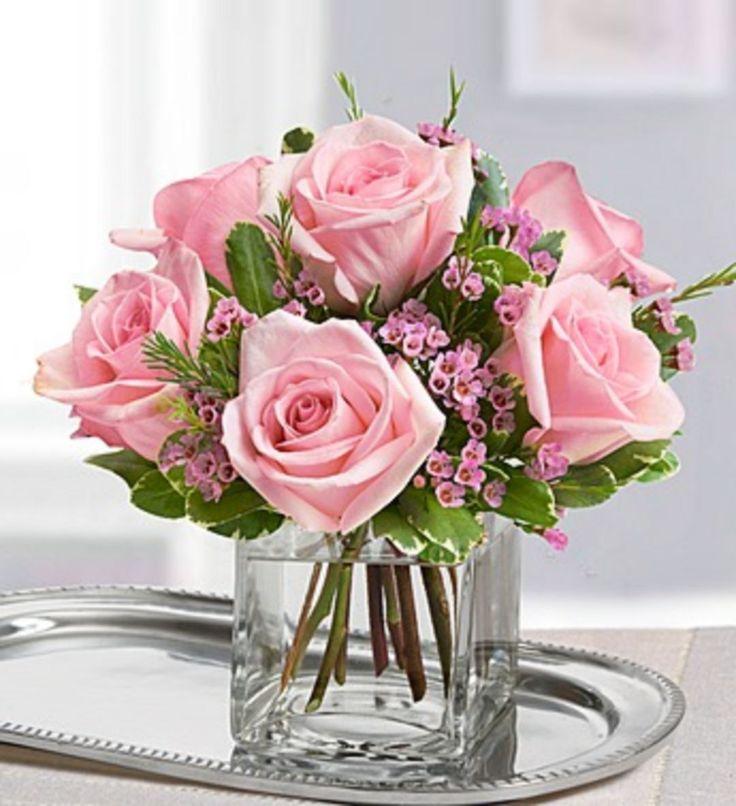 картинки букеты нежно розовые середина