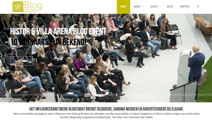 www.blogtoday.nl Blogger, influencers en adverteerders ontmoeten elkaar hier. Een netwerk van Sanoma gericht op samenwerking en zichtbaarheid.