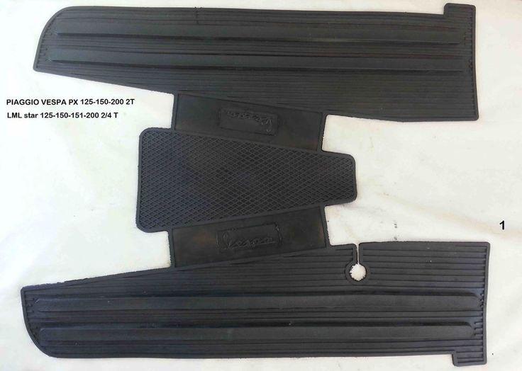 tappetino LML star 125-150-151-200 cc  nero in gomma  rif.1 tappeto