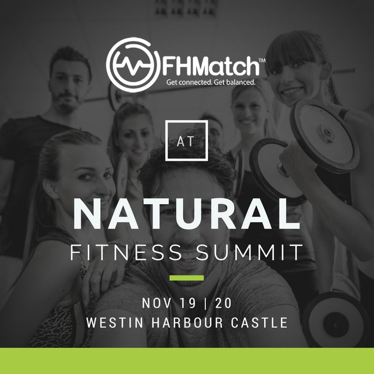 FHMatch will be at the Natural Fitness Summit this weekend in Toronto - come by to say hi and enter our raffle to win some great prizes!