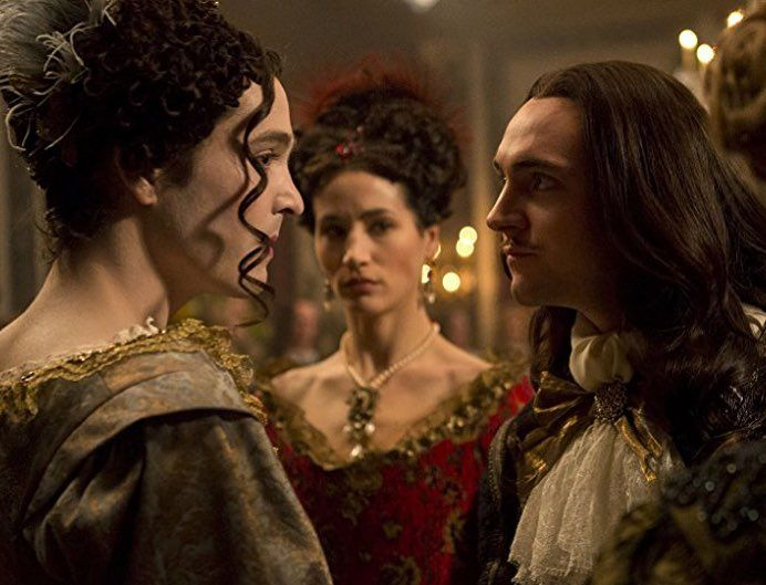 Watching Versailles season 2 (or as I call it CSI: Versailles). Looove the costumes and wigs. Gorgeous sets and cinematography.  #versailles #louisxiv #sunking #ovationchannel  #costume #sets #history #miniseries #wigs #hair #beautiful #17thcentury #art #french #france #17thcenturyfashion