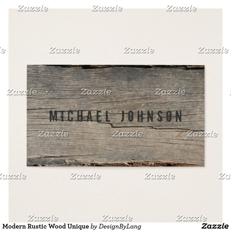 Modern Rustic Wood Unique Business Card