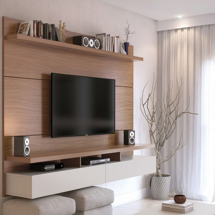 City Floating Wall Theater Entertainment Center Tv