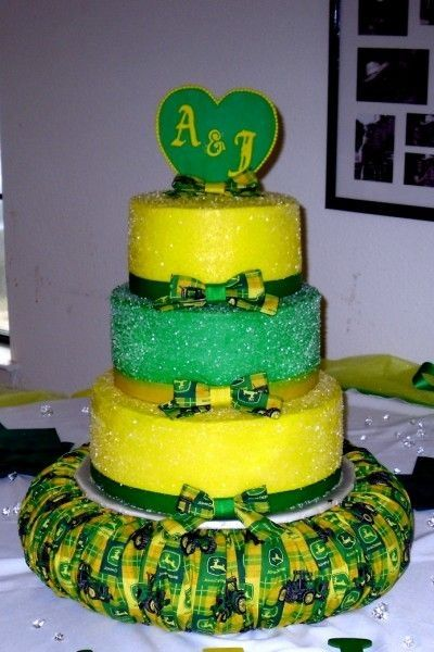 John Deere Wedding Cake By Rosemarygalpin On Central Tractor Farm Fall Toppers It Now