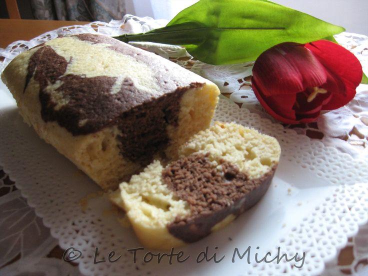 Plumcake variegato al latte di cocco e yogurt | Le Torte di Michy
