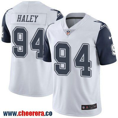 Men's Dallas Cowboys #94 Charles Haley White 2016 Color Rush Stitched NFL Nike Limited Jersey