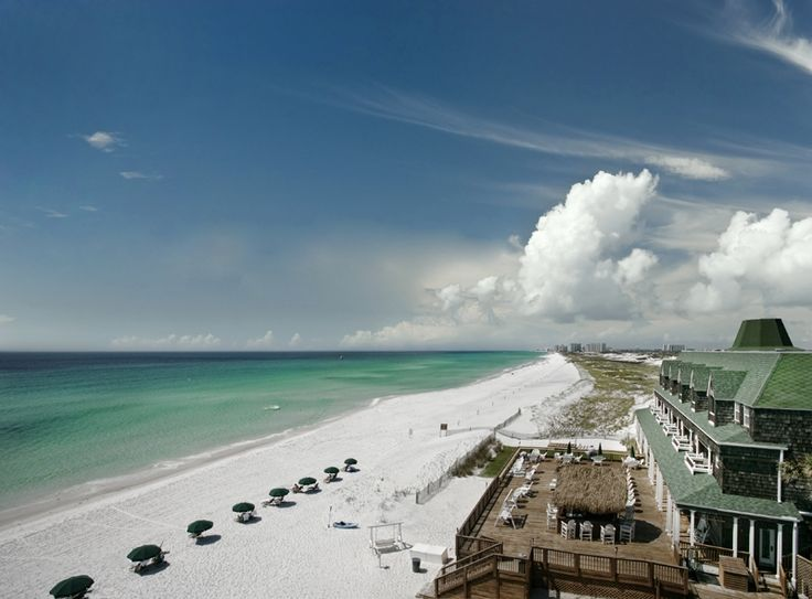 Florida's panhandle is known for it's white, sandy beaches. If you haven't seen it for yourself, you're missing out! | Henderson Park Inn in Destin, Florida | Southern Living Handpicked Hotels |