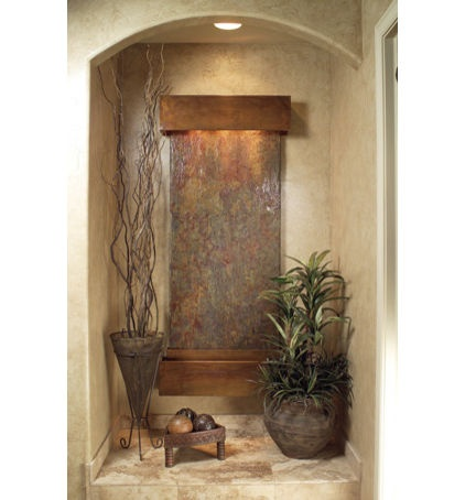 use indoor fountain to add humidity...I love that! modern indoor fountains by Wall Fountains