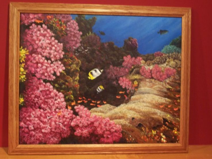 Early acryllic painting I did. Wanted to do an undersea picture.