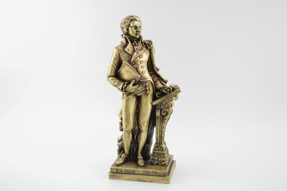 Wolfgang Amadeus Mozart statue / Bronze plated  by CraftsAndMetal