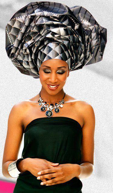 A nice quick tutorial on how to tie Nigerian gele head wrap