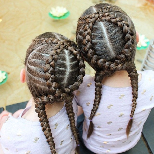"""""""Criss crossed dutch braids. These stayed in super well while the girls swam. I bet I could have even got away with wearing them a second day if I hadn't…"""""""