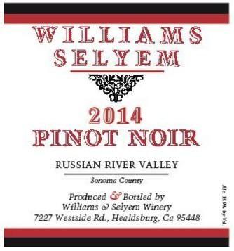 2014 Williams Selyem Pinot Noir Russian River Valley