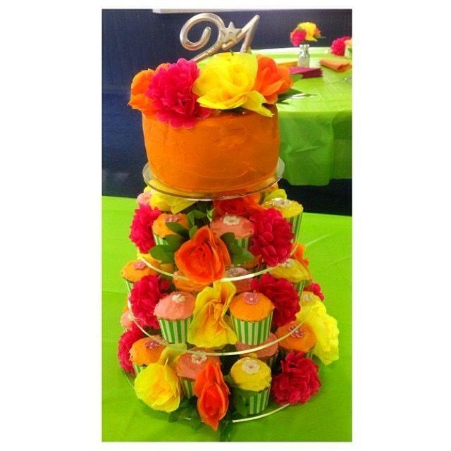 Floral Cupcake Tower 🌷