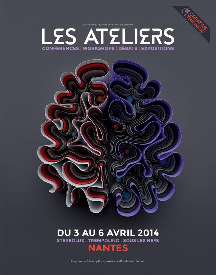 """Plasticbionic réalise le visuel de l'affiche de l'évènement """"Les Ateliers"""" à Nantes."""