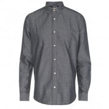 Paul Smith Shirts - Black Marl Twill Shirt