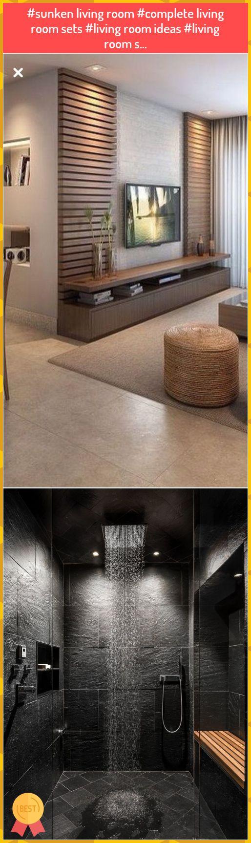#sunken living room #complete living room sets #living ...