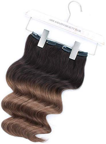 Amazing offer on ABH AmazingBeauty Hair – AmazingBeauty Luxury Remy Human Hair Double Weft Ombre Remy Clip Extensions, Full Head 140 Gram, 7 Pieces 18 Clips, T2-6# Dark Brown Chestnut Brown, 20 Inch online
