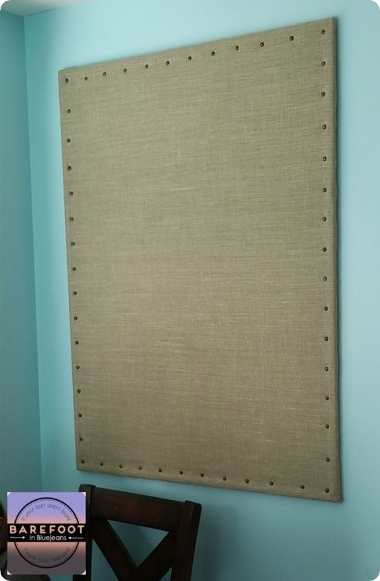 DIY Home Decor ~ Make a huge burlap bulletin board for only $20 and in less than an hour!