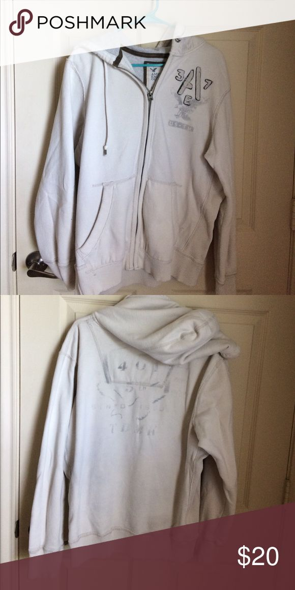 American Eagle jacket Gently used hood and zip up American Eagle Outfitters Jackets & Coats Lightweight & Shirt Jackets