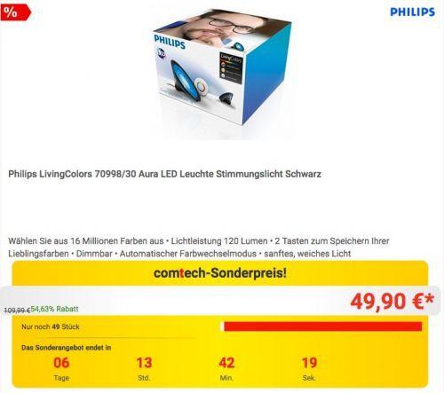 #Philips Living Colors Aura LED Leuchte für 49,90€ (statt 65,99€) https://www.billigerfinder.de/elektronik-und-foto/1518602280324-philips-living-colors-aura-led-leuchte