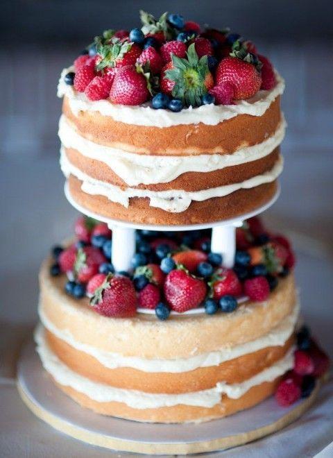 画像5 : 欧米のウェディングで話題沸騰の『ネイキッドケーキ』が素敵すぎる! │ macaroni[マカロニ]
