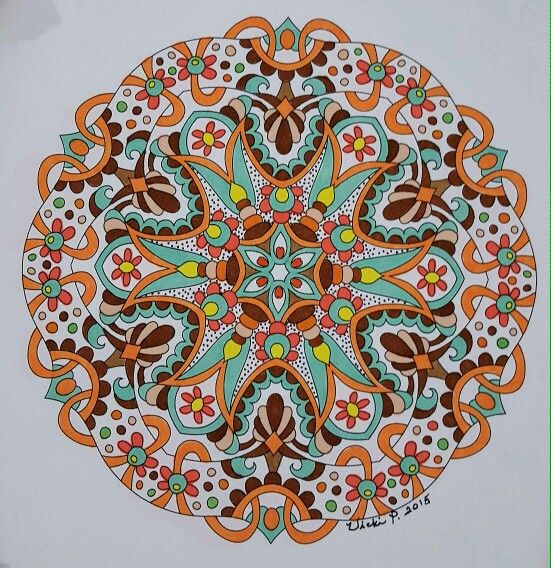 Angie Grace design out of her book called Cool. Colored with Bic pens by Vicki Patterson.