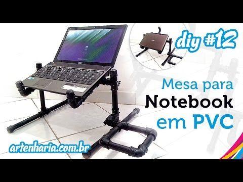 Mesa para Notebook em PVC articulada (Passo a Passo)