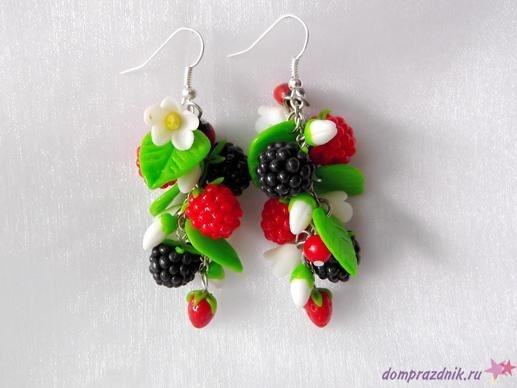 fimo earrings, very nice and summery :)