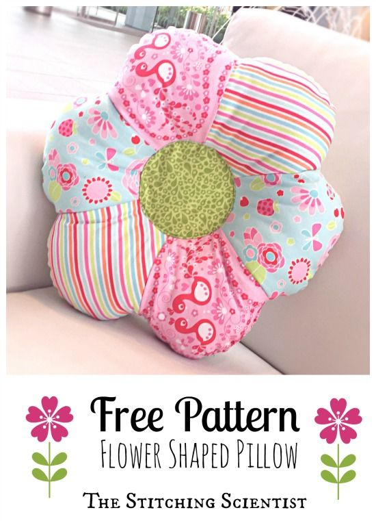 Free Pattern Flower Shaped Pillow #freesewingpattern