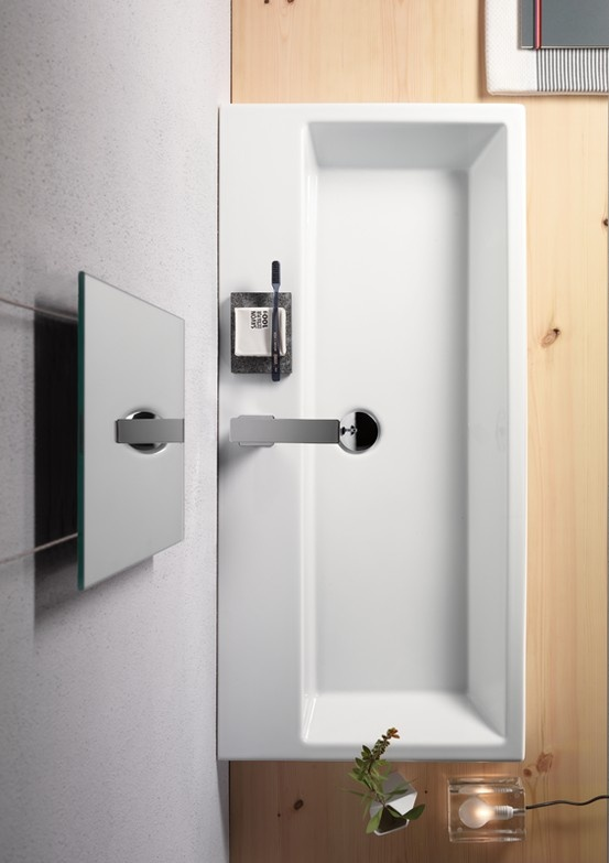 GSI ceramic | KUBE Collection Washbasins  #GSIceramica #BathroomDesign #Washbasins