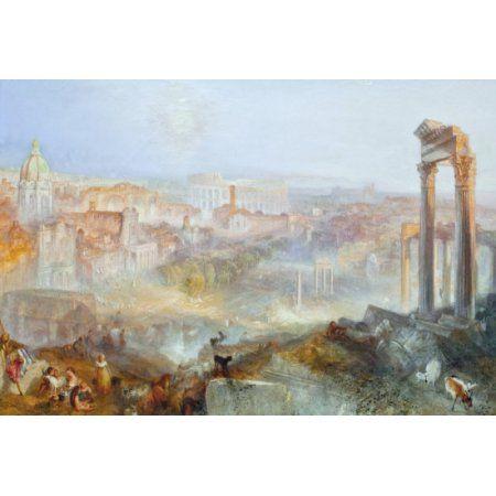 Modern Rome (Campo Vacino) Canvas Art - JMW Turner (18 x 24)