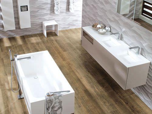 Baldosas De Baño Porcelanosa:Baldosa de suelo de gres porcelánico para baño: imitación madera