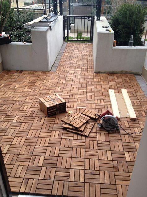 Diy Outdoor Patio Decking With Ikea Platta 537