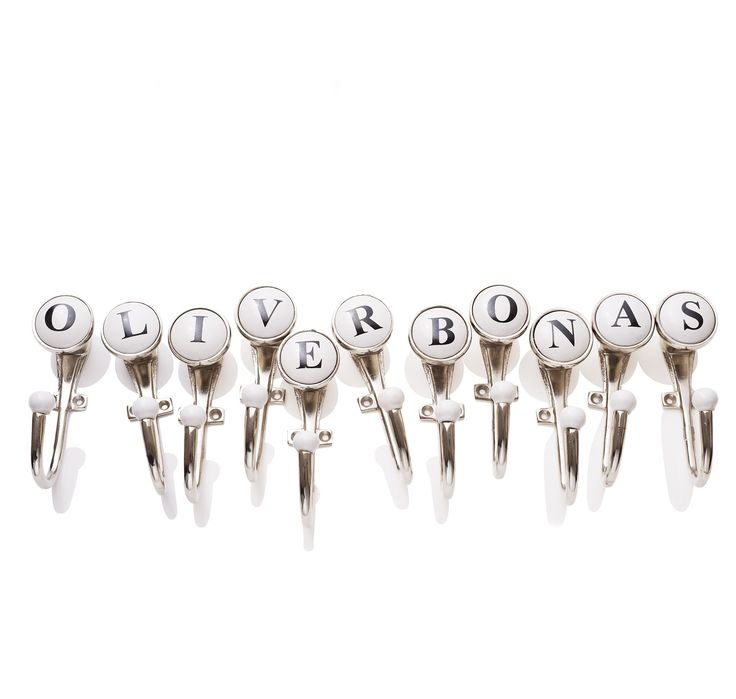Buy the Ceramic Alphabet Hook at Oliver Bonas. Personalise your Homeware. Enjoy free worldwide standard delivery for orders over £50.