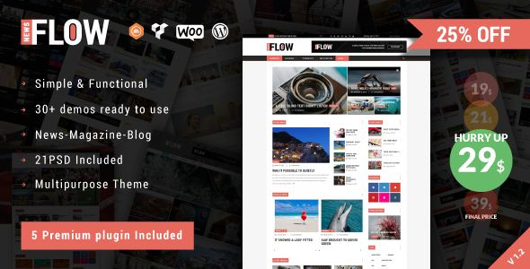 Discount - 25% off!!! FlowNews is the best news, magazine and blog theme for WordPress. Get it now: https://themeforest.net/item/flownews-magazine-and-blog-wordpress-theme/19741299?ref=dronestarstudio