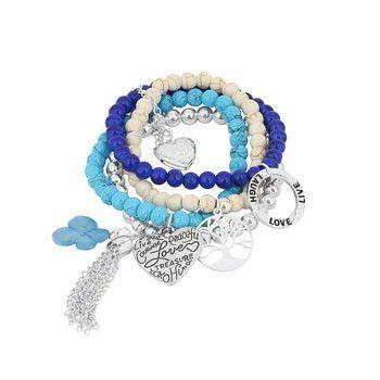 Multi Strand Blue Hydrangea Bracelet-Unique Australian Gifts for Women – Bits of Australia