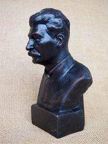 Бюст И. Сталин керамика.