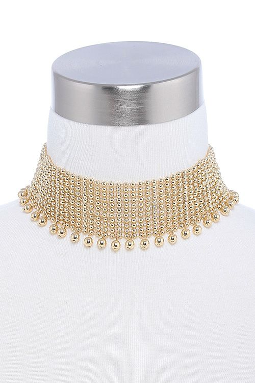 BALL BEADED THICK CHOKER NECKLACE Wholesale LookBook   Let us find your look!