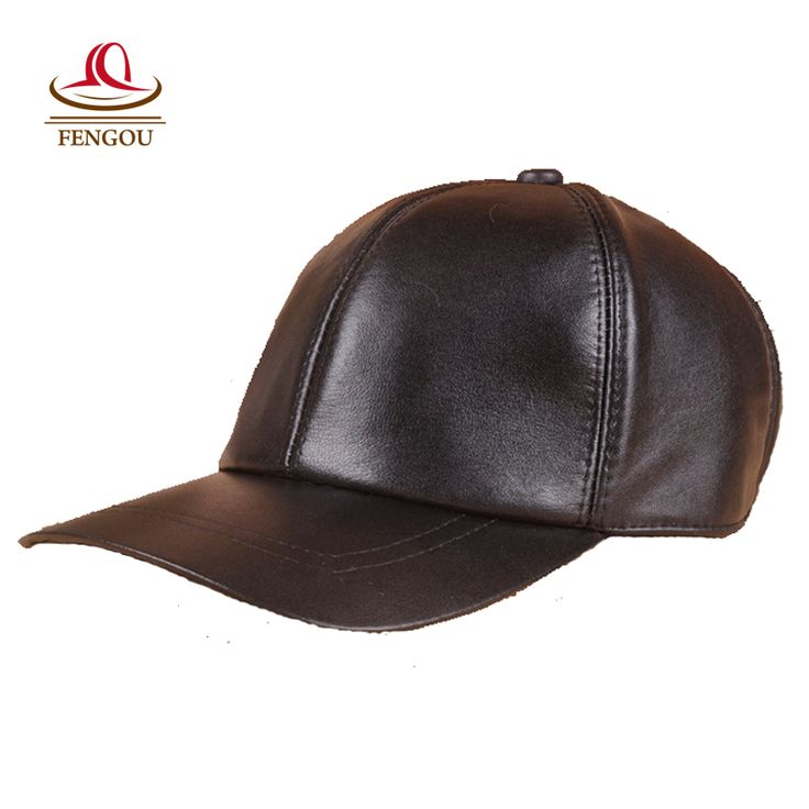 Genuine Leather Men Women Hat Autumn Winter Sheepskin Leather Baseball Cap Hat for Leisure Sports