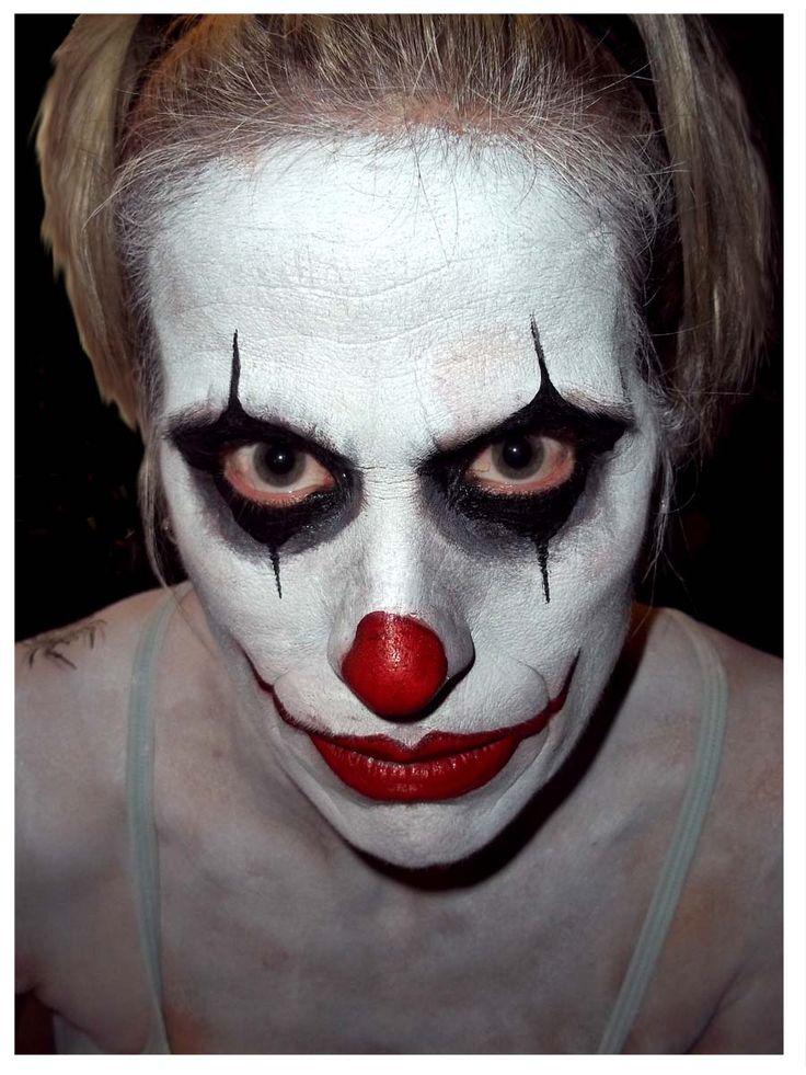 Scary face makeup men