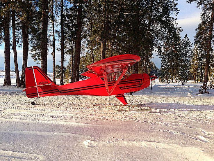 Kitfox on skis. Aviation world, General aviation, Outdoor