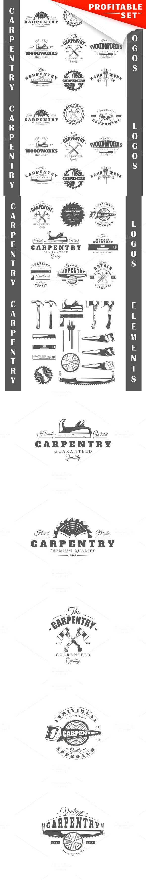 17 Carpentry logos templates. Premium Icons. $17.00