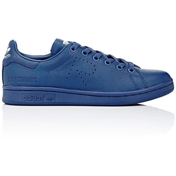 adidas x Raf Simons Women's Women's Stan Smith Low-Top Sneakers S ($159) ❤ liked on Polyvore featuring shoes, sneakers, blue, low top, distressed sneakers, perforated leather sneakers, blue sneakers and lace up sneakers