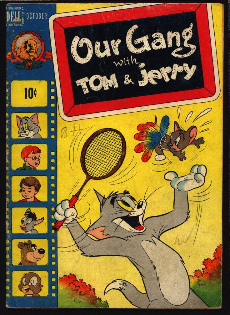 OUR GANG with Tom & Jerry #51 1948 Walt Kelly Little Rascals Buckwheat Alfalfa Dell Comics Hanna Barbera MGM Cartoons Droopy Barney Bear