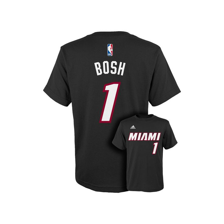 Boys 8-20 Adidas Miami Heat Chris Bosh Tee, Size: S(8), Black