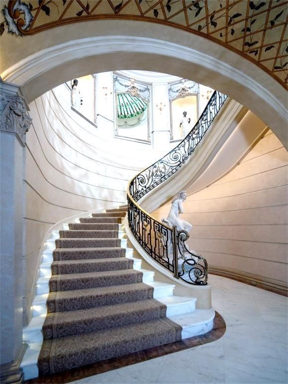 Beautiful ** Grand Staircase Texas Mansion French Style Cococozy | First Impression |  Pinterest | Grand Staircase, Staircases And French Style