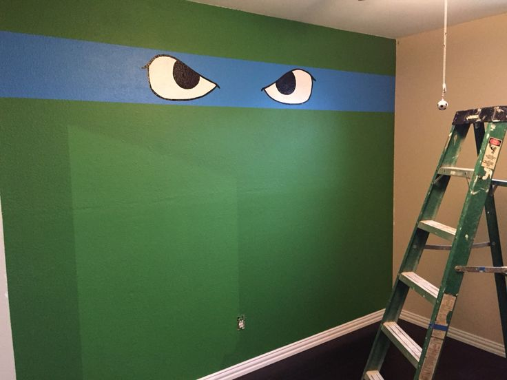 Leo the ninja turtle for my 6 yr old sons themed bedroom.