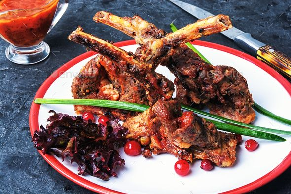 dish of baked lamb ribs - Stock Photo - Images Download here : https://photodune.net/item/dish-of-baked-lamb-ribs/20085451?s_rank=28&ref=Al-fatih