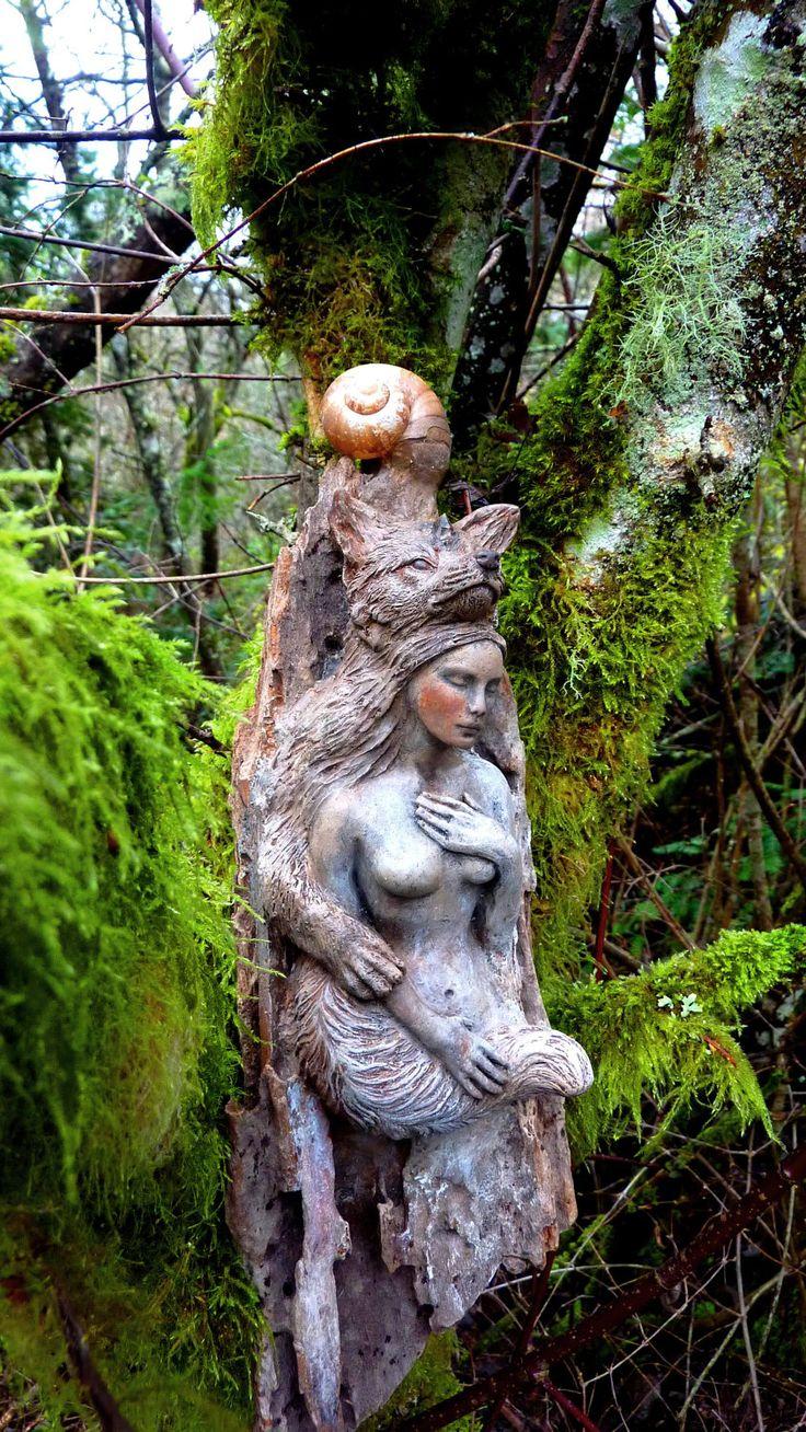 Shaping spirit driftwood sculpture by debra bernier on